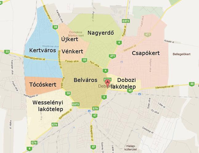 Dobozi Lakotelep Debrecen Terkep Groomania